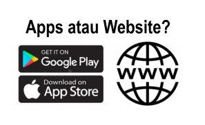 pilih apps atau website